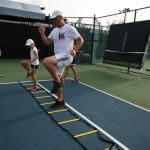 Обучение детей быстрому передвижению по теннисному корту